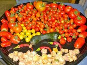 Assortment of garden vegetables