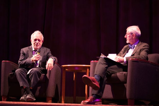 Robert Reich, left, and Nick Burns