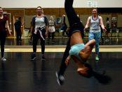Dance member flips