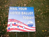 Mail your voted ballot sign