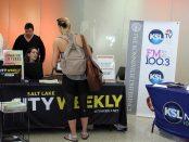 Job fair booths at South City