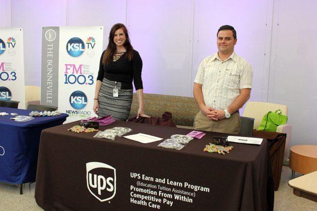 Allison Payne and Brett Webb from UPS