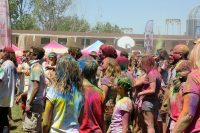 Holi festivalgoers