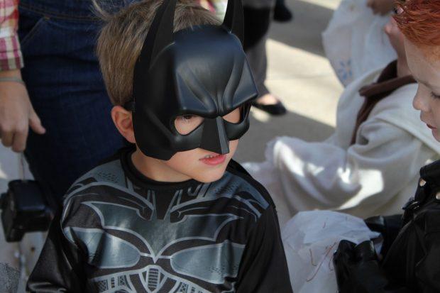 Kid dressed as Batman