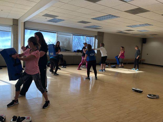 Self-defense training exercise