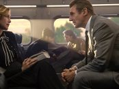 "Vera Farmiga and Liam Neeson in ""The Commuter"""