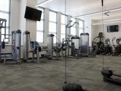 Exercise equipment in the Bruin Fitness Center