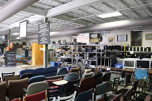 Surplus sales floor