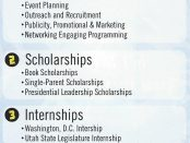 Student Life and Leadership flyer