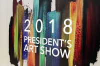 wall Presidents art show 2018