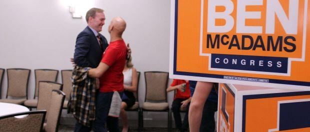 Ben McAdams shakes hands