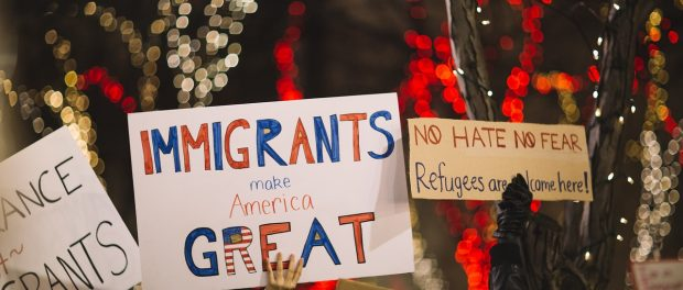 Immigration rally posters