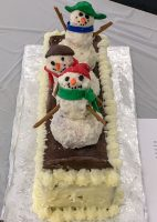 Cake of snowmen