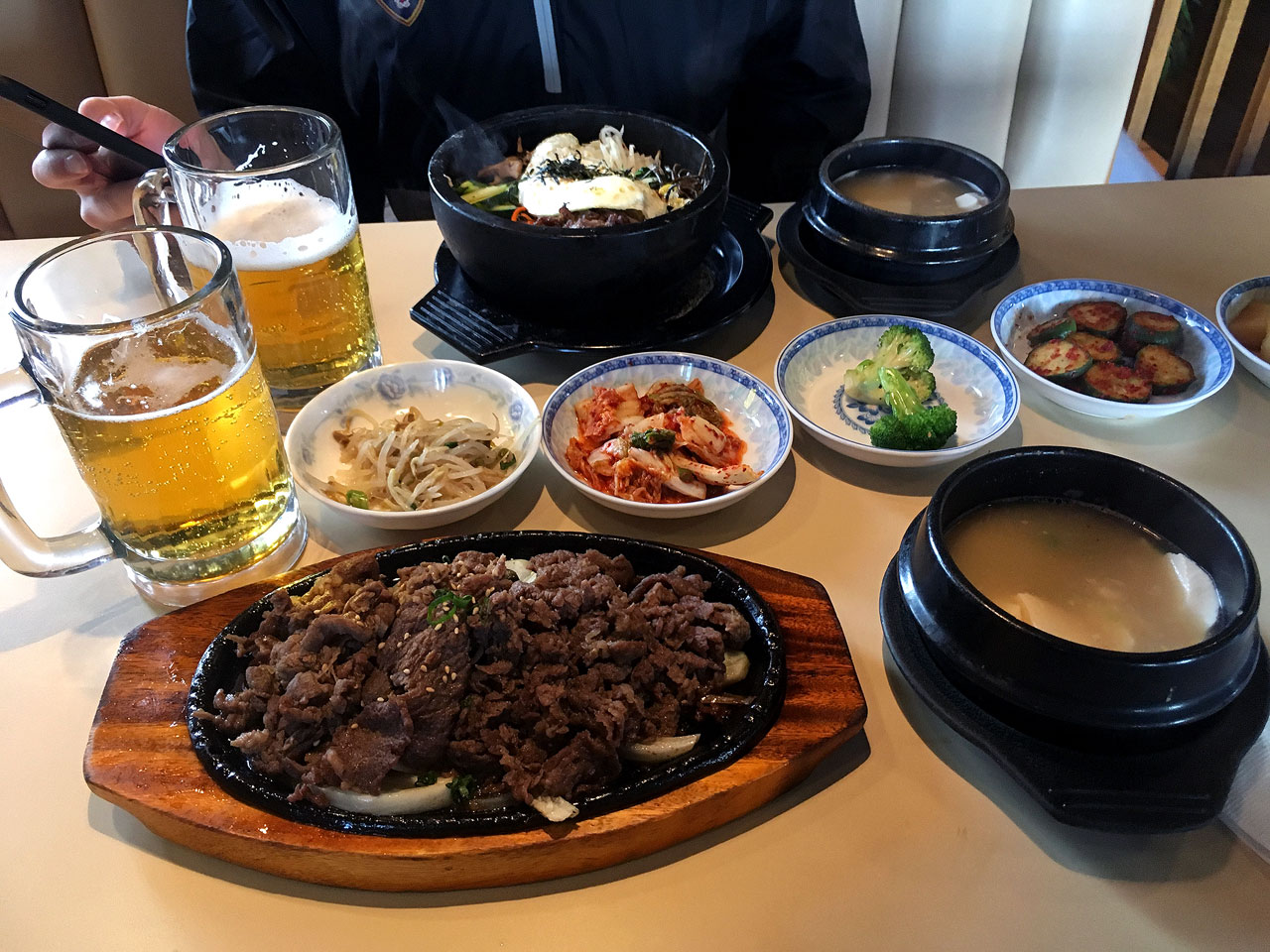 A spread at Myung Ga