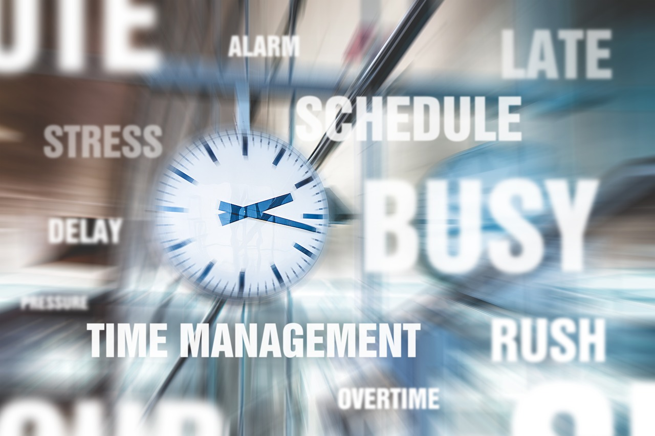 Time management stress concept image