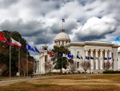 Landscape view of Alabama State Capitol in Montgomery