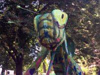 Giant multicolored grasshopper