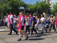 SLCC LGBTQ and allies walking parade route