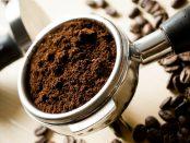 Fresh ground coffee powder