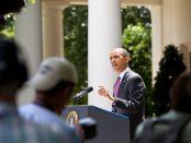 President Obama at podium