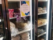 Freezers full of food inside the Bruin Pantry