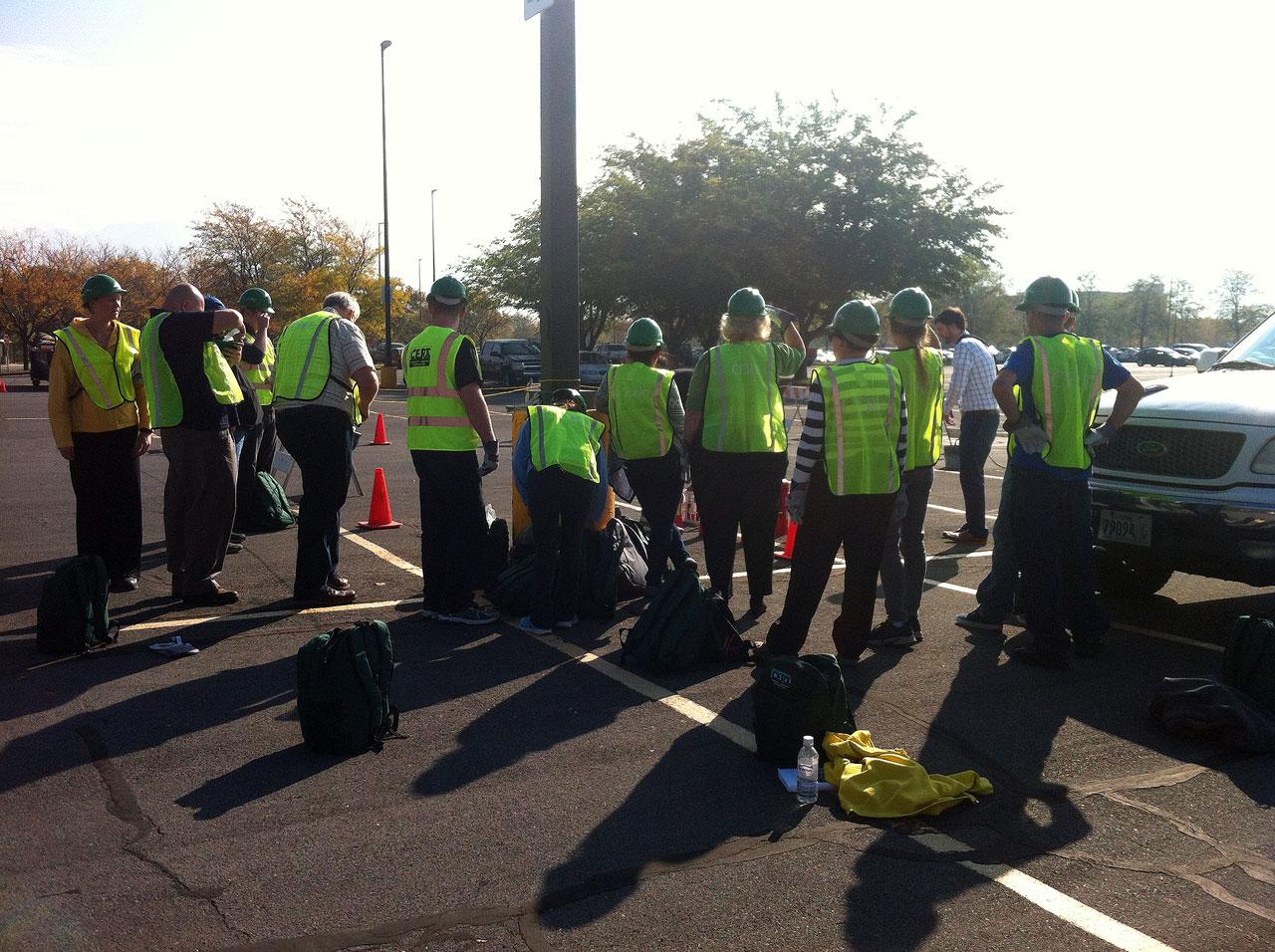 CERT team assembles in parking lot