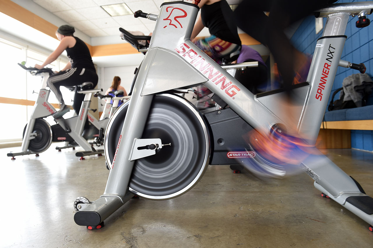Wheels turning in spin class