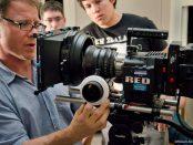 Mark Davis configures a camera