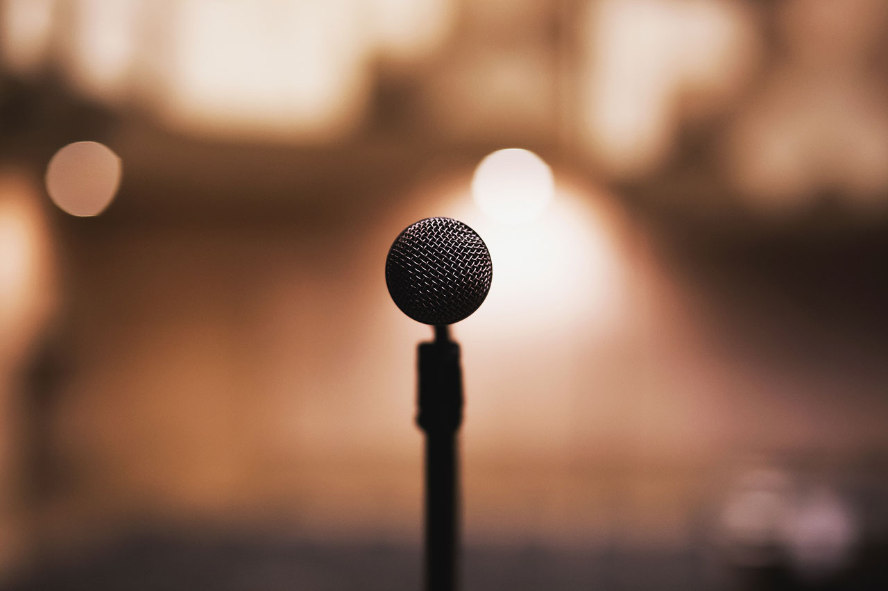 Microphone in focus
