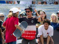 Oskar Rozenberg celebrates with entourage