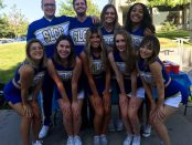Cheerleaders at Bruin Bash 2019