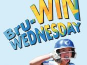 Bru-WIN Wednesday graphic with softball player