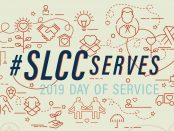 #SLCCserves Day of Service logo