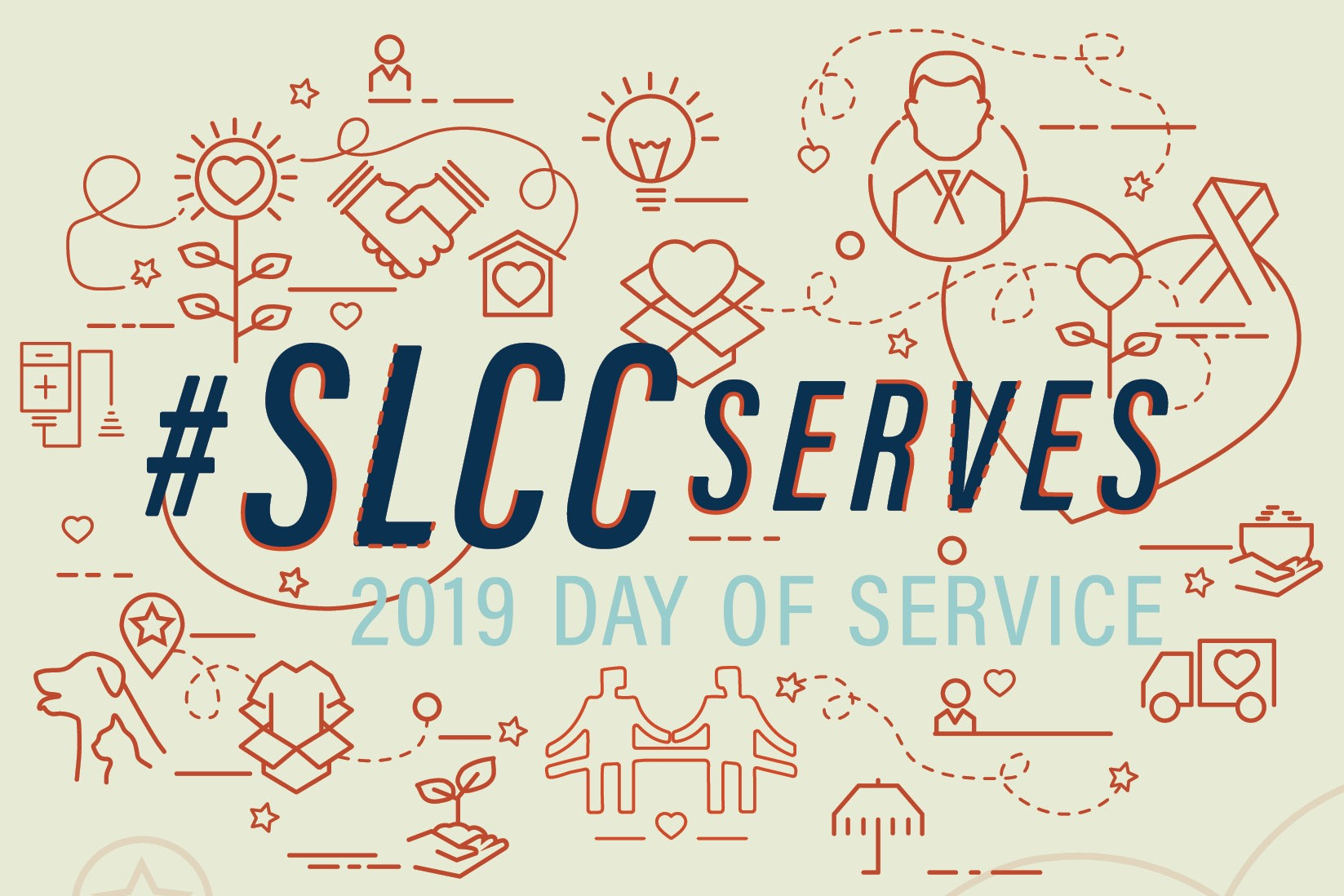#SLCCserves Day of Service logo