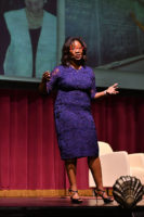 Dr. Talithia Williams on stage