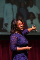 Dr. Talithia Williams gives a lecture
