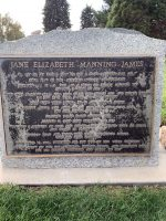 Front of Jane Elizabeth Manning James' headstone