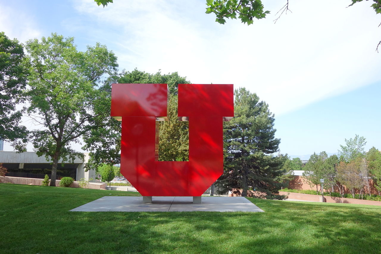 Red letter U on campus