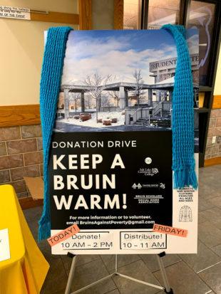 """Keep a Bruin Warm"" poster"