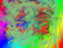 Rainbow-colored abstract artwork