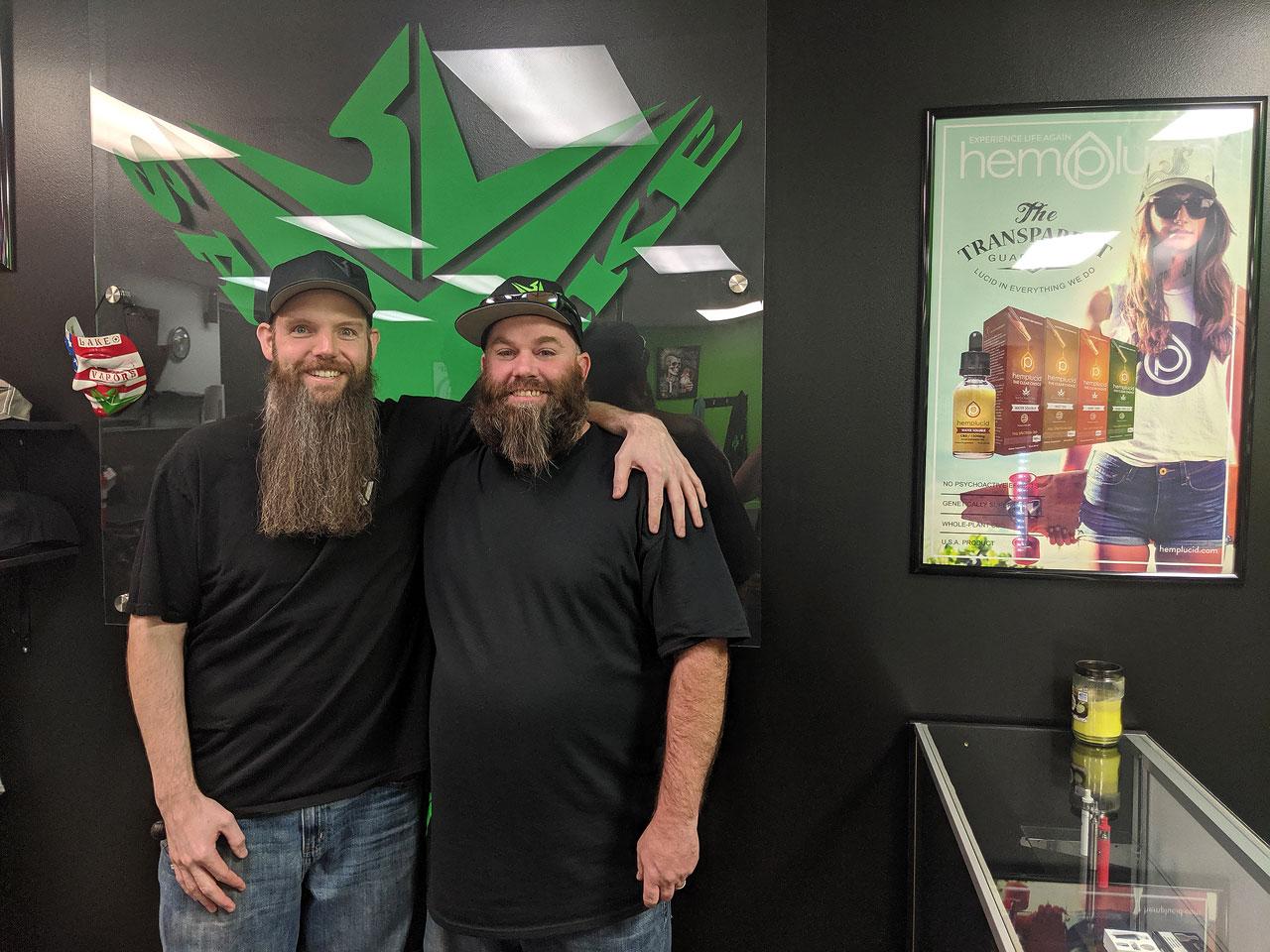 Matthew Murphey, right, and Adam Christensen