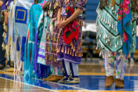 Focus on traditional Native American clothing