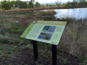 """Making Space for Wildlife"" sign"