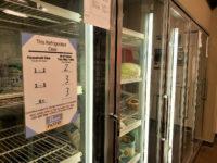 Refrigerator case inside a Bruin Pantry