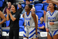 SLCC players show excitement on the bench