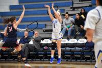Taylor Scoggins shoots the ball
