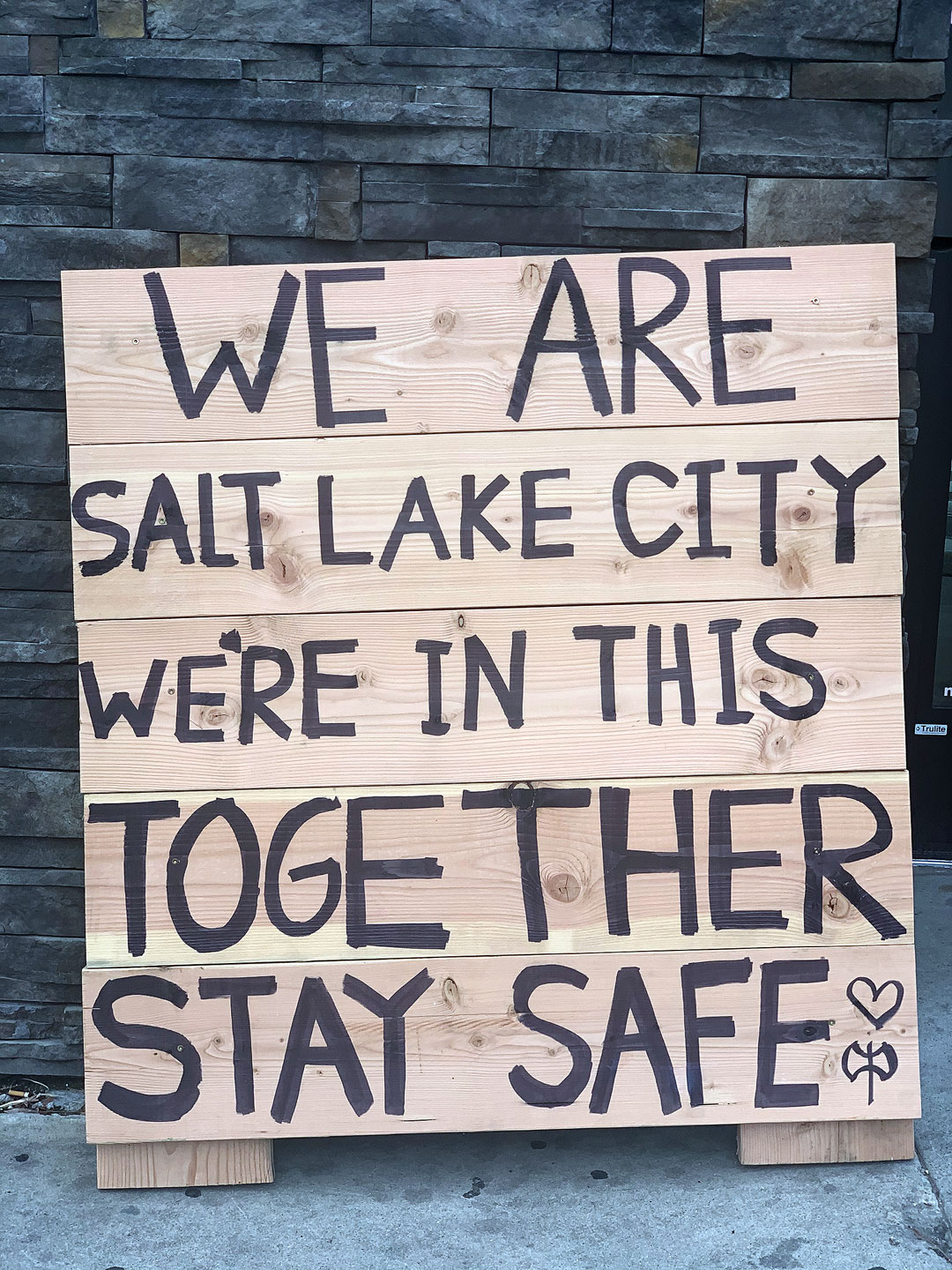 """We are Salt Lake City. We're in this together. Stay Safe"""