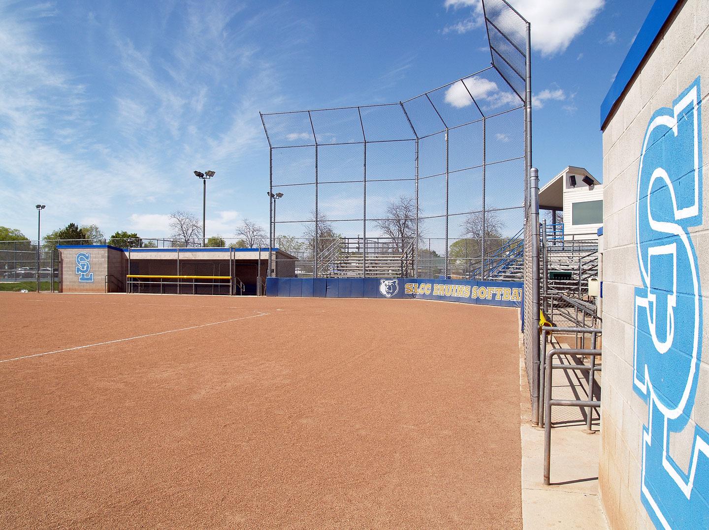 Empty softball field