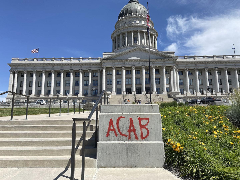"""ACAB"" graffiti on Capitol grounds"