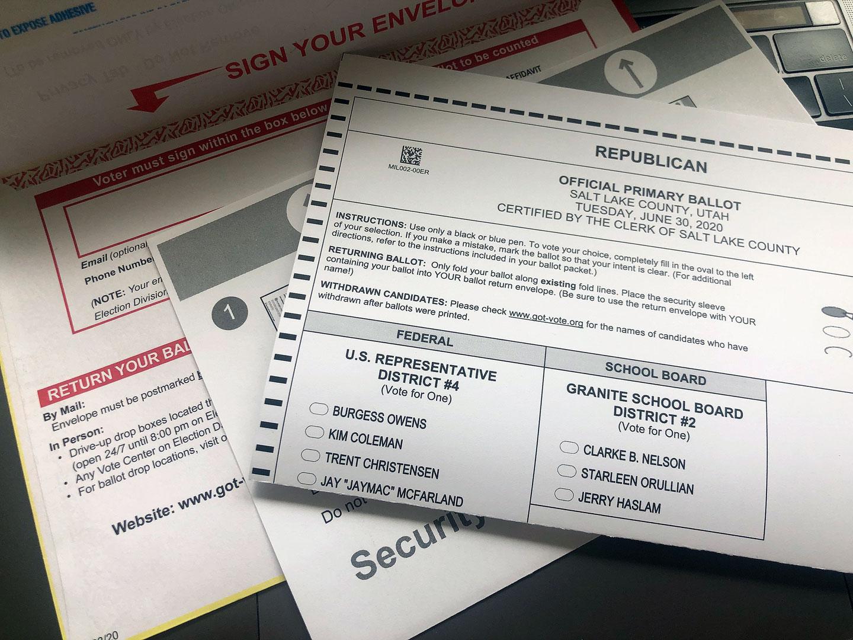 Official Utah Republican 2020 primary ballot